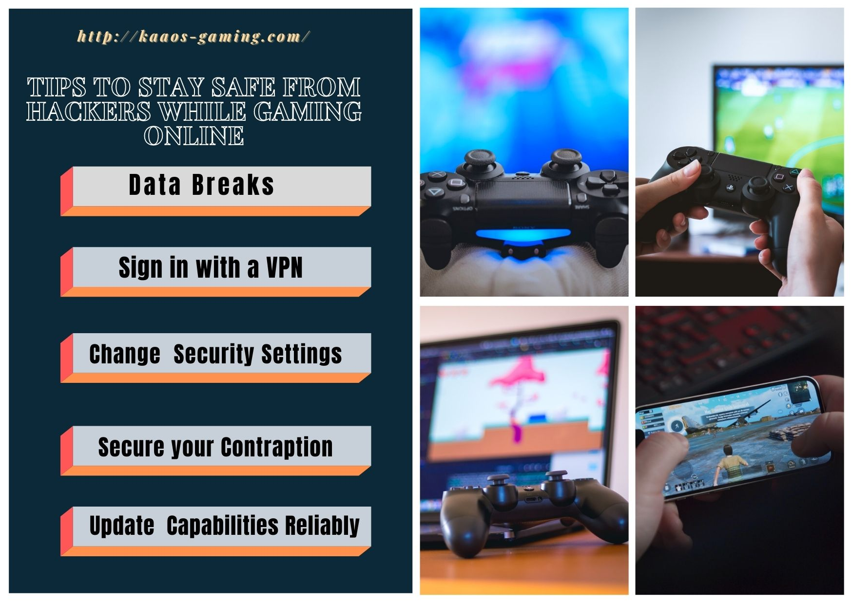 Tips to Stay Safe from hackers while Gaming Online